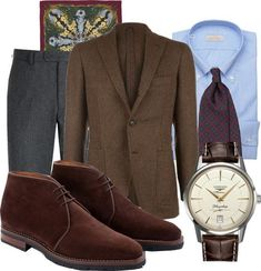 http://chicerman.com  toquote:  It is finally time to put on the tweed jacket a jacket that will accompany you long into the cold winter days. This is Monday Inspiration - Tweed. www.toquote.se?p=5742 #menswear #inspiration #mondayinspiration #style #outfit #toquote #jacket #tie #drakes #drakesoflondon #shirt #bergberg #trousers #flannel #suitsupply #pocketsquare #monsieurfox #shoes #chukka #christiankimber #christiankimberxeidosnapoli #watch #longines #flagshipheritage  #menshoes