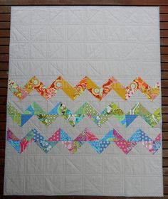 awesome quilt back - if you've gotta have seams, might as well work with them!