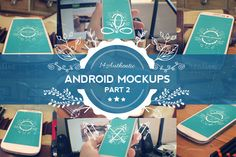 Check out 14 Android Phone Mockups: Part 2 by Layerform on Creative Market