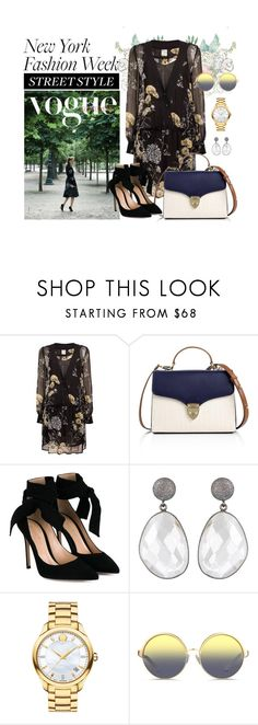 """""""#ootd Fashion Street Style"""" by cstarzforhome ❤ liked on Polyvore featuring Baum und Pferdgarten, Aspinal of London, Gianvito Rossi, Movado, Matthew Williamson, StreetStyle and NYFW"""