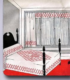 1910s Original Stunning Uncut French Knot Bedspread Transfer | eBay