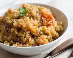 Risotto de quinoa au potimarron Croq'Kilos : http://www.fourchette-et-bikini.fr/recettes/recettes-minceur/risotto-de-quinoa-au-potimarron-croqkilos.html