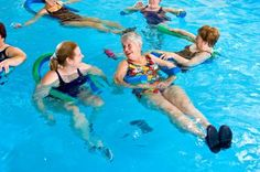 Thigh Exercises in a Pool