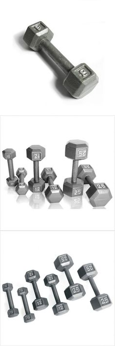 Grey Solid Hex Dumbbell Weight: 1 lbs