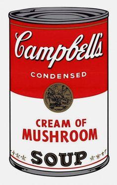 Campbell's Soup Cream of Mushrooms (Sunday B. Morning) - Andy Warhol