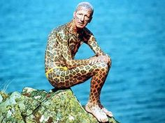 Formerly considered by the Guinness Book of World Records to be the world's most tattooed man, Tom Leppard, now 73 years old, fled society years ago after spending £5,500 to have his body covered in leopard-like spots. He lived in a small cabin on the Isle of Skye, Scotland. Once every week, the ex-soldier travelled by canoe to buy supplies and pick up his pension. However, in 2008 he moved into a small house on Skye after a friend offered to move him by boat.