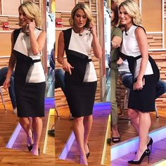 "373 Likes, 19 Comments - @jls_style on Instagram: ""@ajrobach wears @vassa_co Thank you @networkusa !!! #AmyRobach #VassaCo #Louboutin"""