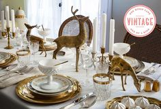 A Merry Meal: Vintage Finds for the Table