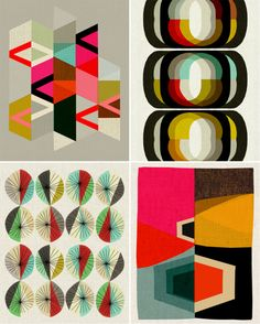 Funky retro modern prints from Inaluxe <3