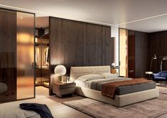 Posuvný systém Premium elegantně odděluje krásnou ložnici a šatnu #dveře#glasswall#portevetro#doors#dveře#modern#house#interier#home#homedesign#skleněnéStěny#Posuvnédveře#SlidingDoors#slidingDoor#bedroom#ložnice#šatna#slidingWardrobe#