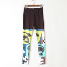 caaf4b95f3632 Cheap Leggings, Buy Directly from China NEW Printed Skull Women Leggings  Black Patchwork Elastic Waist Streetwear Hip Hop Style Leggings