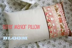 Bloom: 'Aster Manor' pillow workshop