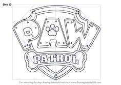 Aprenda a desenhar Paw Patrol crachá (PATA Patrol) Passo a passo: Desenho Tutoriais