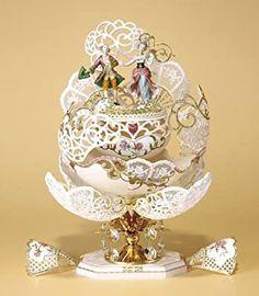 Egg Crafts, Diy And Crafts, Faberge Eggs, Egg Art, Egg Decorating, Design Crafts, Snow Globes, Carving, Fancy