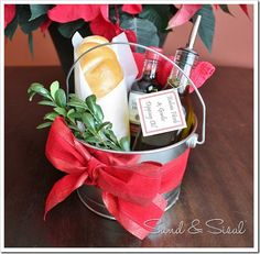 Gift Pail - homemade bread and dipping oil