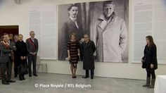 Queen Mathilde of Belgium visited the exhibition 'Facing Time - Rops / Fabre' in Namur, Belgium on March 24, 2015