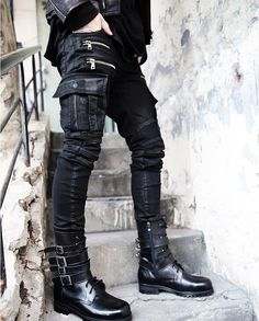 2015 Fashion Brand Zipper Mens Biker Jeans British Style Harajuku Slim fit Jeans Men Pants Black Motorcycle Rock Jeans Men M-XXL