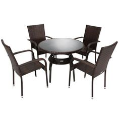 rattan garden furniture dining table set 8 seater acacia wood table plate 7cm cushion outdoor conservatory table and chairs set pinterest gardens - Rattan Garden Furniture 4 Seater