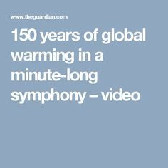 150 years of global warming in a minute-long symphony – video