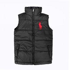 Polo Ralph Lauren para hombre Ascender Down Chaleco Negro Polo Vest 6c18b1bec06