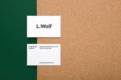 thebackmatter:  L. Wolf by Mildred & Duck / mildredandduck.coml. wolf, founded by greg carroll, is a new production company inventing and reinventing classics for all mediums. we developed a house style for all promotional materials, providing a way in which l. wolf can embed the identity into all areas of communication to create a cohesive and recognisable overall brand identity.