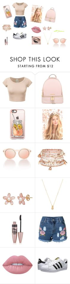 """Sin título #61"" by pamela-guzman10 on Polyvore featuring moda, Michael Kors, Casetify, Accessorize, Wanderlust + Co, Maybelline, Lime Crime, adidas Originals y Mehron"