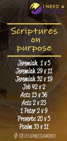 It is very important for you to meditate on these scriptures on purpose because they will help you discover them. The scriptures on purpose are helpful Scriptures On Purpose, Bible Verses, Proverbs 20, Psalm 33, Writing Plan, Finding Purpose, Prayer Times, Text Messages, Thought Provoking