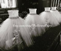 The Event Fairy is pleased to present a new item to our shop on Etsy! Couture Centerpieces will add the touch of wow and ambiance to your tablescape at your event. These elegant tulle dresses cascade over a cut glass base with a 6 vase in a 4 1/2 base. Add your own floral bouquet to top off this beautiful creation for your table at your bridal shower, birthday or special event. These vases are the perfect companion to the Couture Cupcake Stand listed in my shop. https://www.ets...
