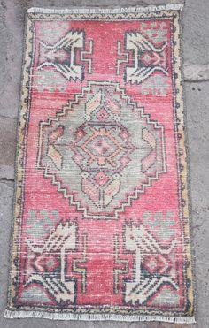 1/'10x3/'0 oushak mini rug turkish mini rug vintage mini rug handmade mini rug anatolian mini rugs door mat rug bathroom rug entry rug