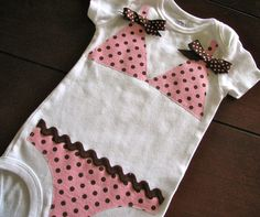 Pink and Brown Polka Dot Bikini Onesie by EllaBeeBoutique on Etsy, $21.00