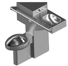 ADA Compliant, Toilet-Lavatory Comby with Angled Toilet, Angled Lavatory