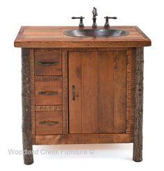 Log Cabin Style Vanity