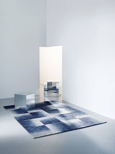 Deirdre Dyson SHADOWS hand knotted wool and silk rug : Modern walls & floors by Deirdre Dyson LLP
