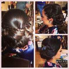 Obsessed with this low updo on this beautiful bridesmaid!