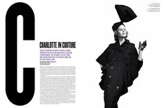 Charlotte Rampling by Willy Vanderperre for V68