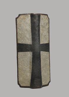 Schild, Tartsche, Handtartsche (Schild) Deutscher Orden. Inventarnummer: W971. Datierung: 15. Jh. Germanisches Nationalmuseum Nürnberg, Germany