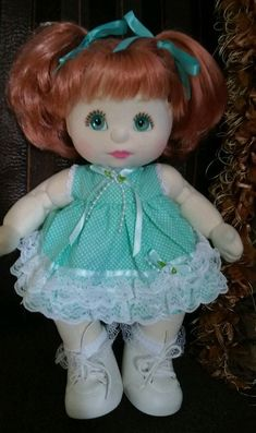 MATTEL MY CHILD DOLL- AQUA EYES- RED HAIR- BEAUTIFUL CONDITION