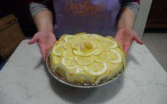 Crostata al limone con pan di spagna e pasta frolla #blog #cucina #cucinare #food #blog #food