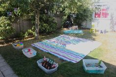 Awesome toddler birthday party/outdoor play ideas