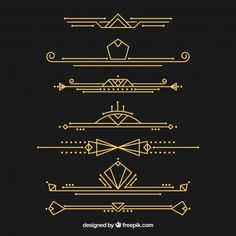 Dividers collection in art deco style Free Vector