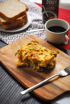 Vegan ham and veggie strata (NO EGGS)