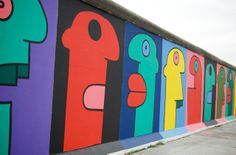 Berlin Wall artist Thierry Noir visits Street Art London and Stik Street Art London, Street Art News, Street Art Graffiti, Street Artists, Thierry Noir, East Side Gallery, Image Painting, Diy Art Projects, Berlin Wall