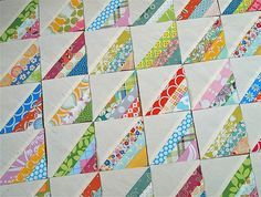 "This is similar to the ""string"" quilt blocks that my Granny made."