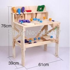 Wood Work bench New wooden toy Wooden blocks baby educational toy Baby gift