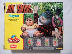 Dinosaurs Play Doh Set 90s TV Show Complete Hard To Find Henson Series #Playskool