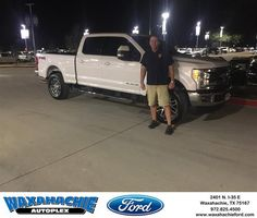 https://flic.kr/p/Q78JS9 | Congratulations Jeff on your #Ford #Super Duty F-250 SRW from Justin Bowers at Waxahachie Ford! | deliverymaxx.com/DealerReviews.aspx?DealerCode=E749