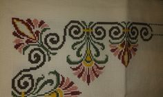 This Pin was discovered by Ays Cross Stitch, Crafts, Dish Towels, Punto De Cruz, Dots, Manualidades, Crossstitch, Handmade Crafts, Diy Crafts