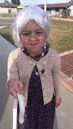 Old lady costume for 100 days of school