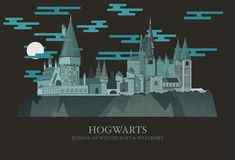 "Look at this beautiful illustration of Hogwarts. | These Illustrations Of ""Harry Potter"" Locations Are Magical"