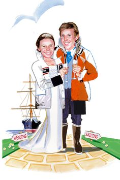 HMS Warrior sailing ship, Portsmouth and sailing gear is what this couple are known for!